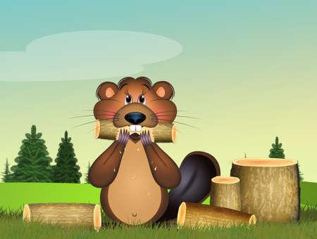 illustration of the woodcutter marmot