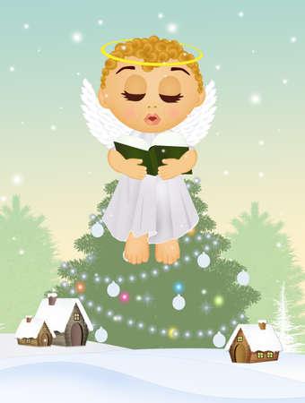 cute angel at Christmas Imagens