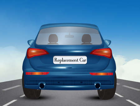 illustration of replacement car