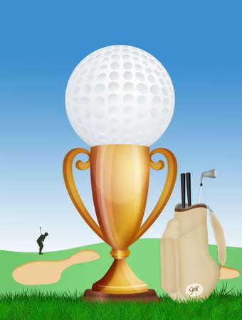 illustration of golf tournament
