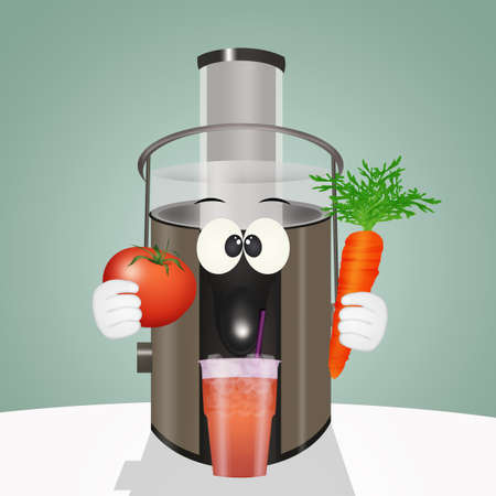 illustration of centrifuged vegetables Reklamní fotografie