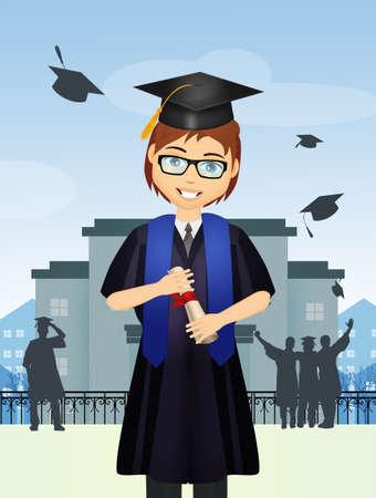 boy with diploma for graduation Reklamní fotografie