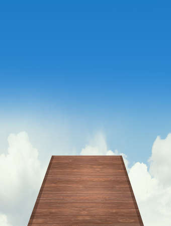 wooden jetty in the sky Stock fotó