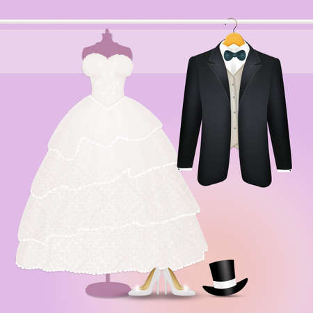 clothing for the spouses Stockfoto