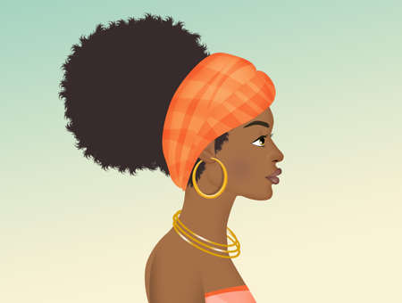 Afro woman Stock Photo