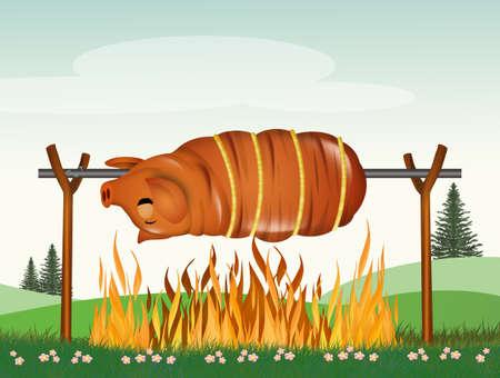 roast pork Фото со стока - 120834028