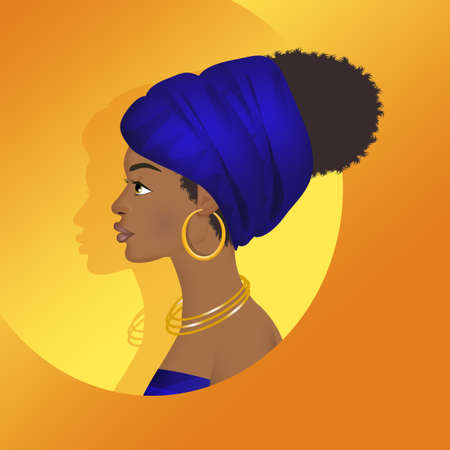 portrait of a African woman Banque d'images