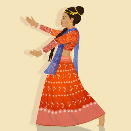 illustration of Indian woman