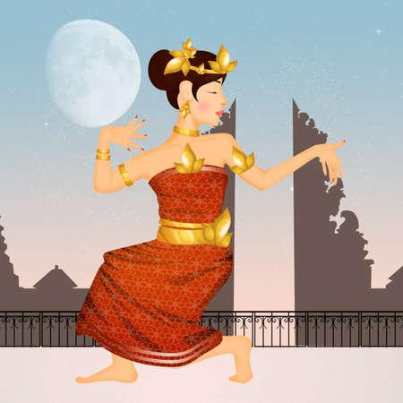 Oriental Indonesian dances Stock Photo