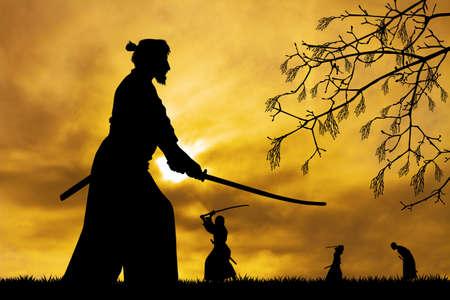 man holding a samurai sword