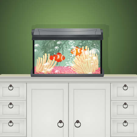 illustration of saltwater aquarium Imagens