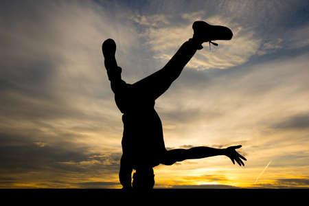 Breakdance performer