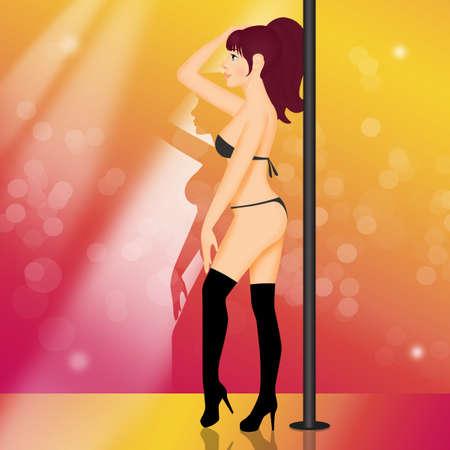illustration of lap dance girl