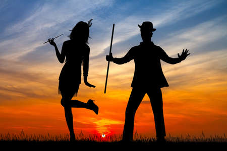 couple dance charleston Stockfoto - 124645640