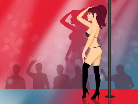 Lap dancer girl