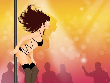 Lap dancer show