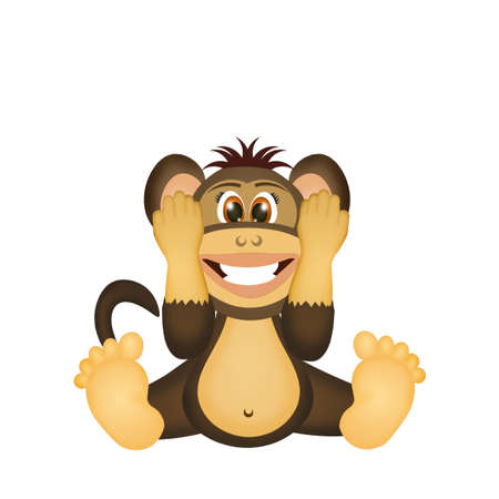monkey do not hear Фото со стока
