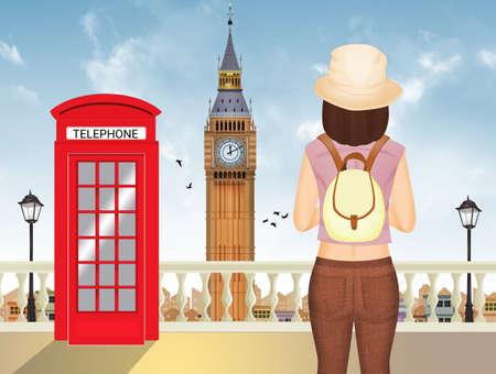 illustration of journey to London