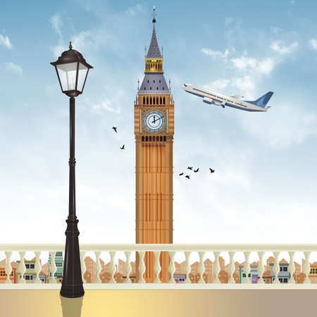 illustration of the big bang in London