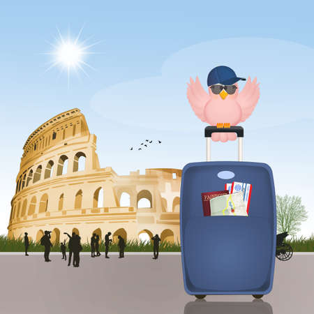 visit the colosseum Stock Photo