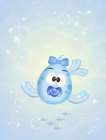 baby fish in the ocean