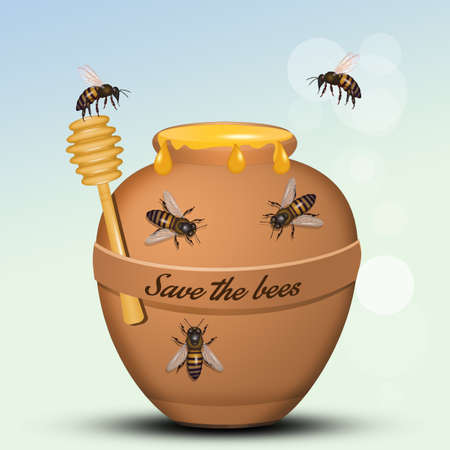 save the bees from the planet 스톡 콘텐츠 - 129520485