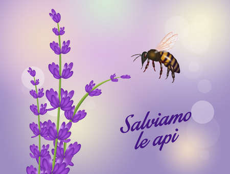 cute illustration of save the bees