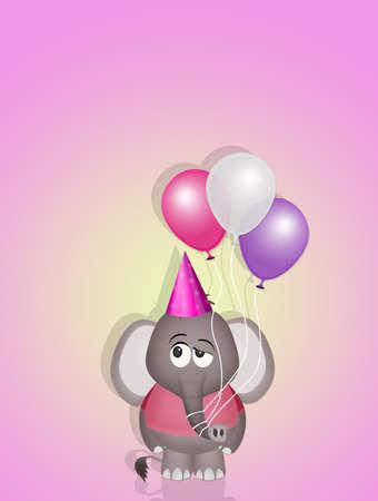 illustration of birthday card Фото со стока
