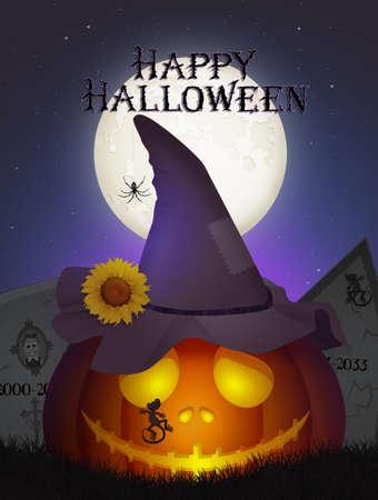pumpkin in the Halloween night