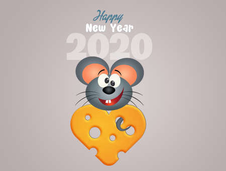 illustration of rat celebrate the Chinese New Year