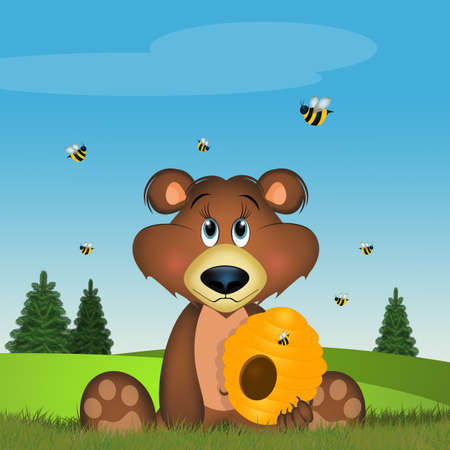 brown bear in the forest 스톡 콘텐츠