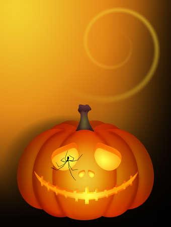 illustration of Halloween pumpkin Stockfoto