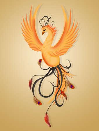 illustration of the phoenix Banco de Imagens