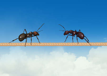 illustration of two ants on the wire