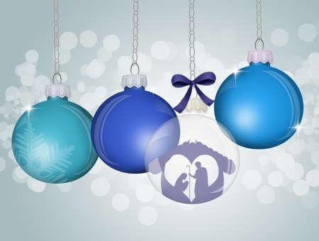 illustration of Christmas ball decorations