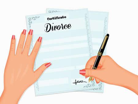 divorce practices Zdjęcie Seryjne
