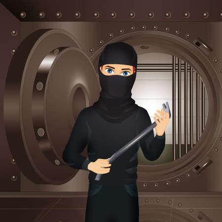 illustration of bank vault