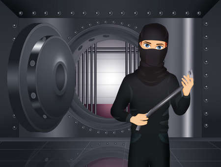 thief makes bank robbery