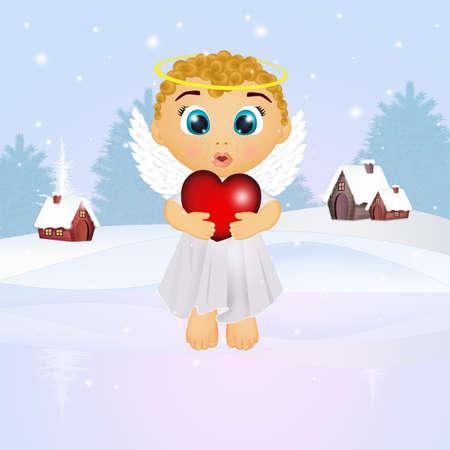 illustration of baby angel