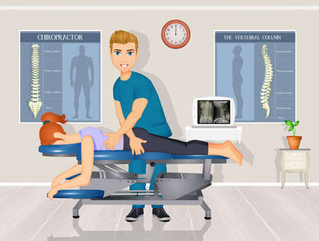 chiropractic treatment and adjustment