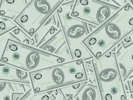 background of banknotes of dollars Stock Photo