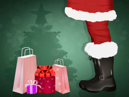 illustration of Santa Claus close up Zdjęcie Seryjne - 132000857