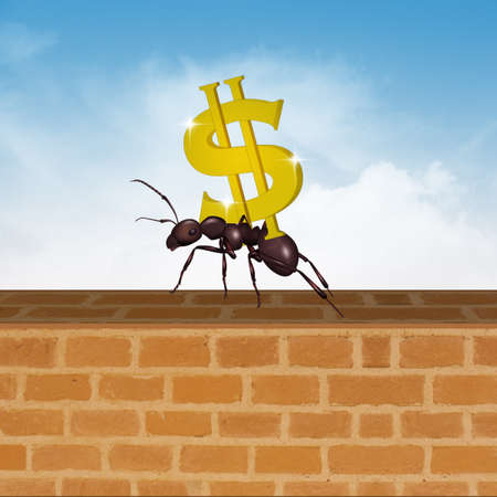 ant with dollar symbol Imagens