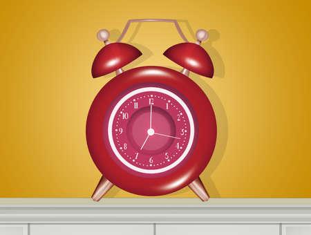 illustration of bedside alarm clock Zdjęcie Seryjne