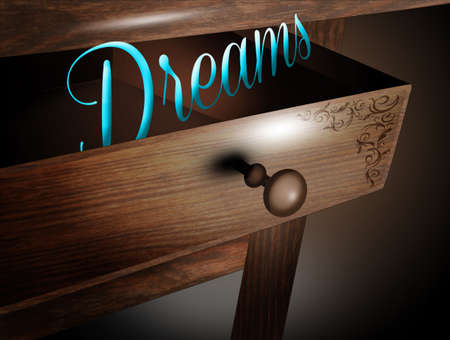 illustration of dreams in the drawer