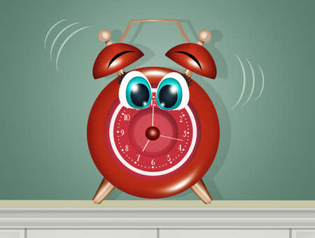 illustration of alarm clock Zdjęcie Seryjne - 131445428