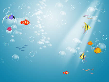 illustration of seabed Zdjęcie Seryjne