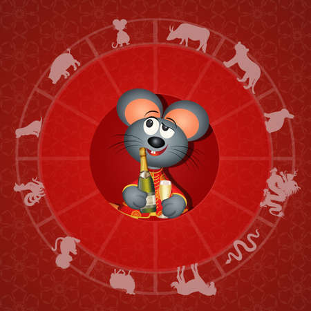 illustration of Chinese horoscope
