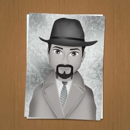 identikit drawing of man Zdjęcie Seryjne - 132000873