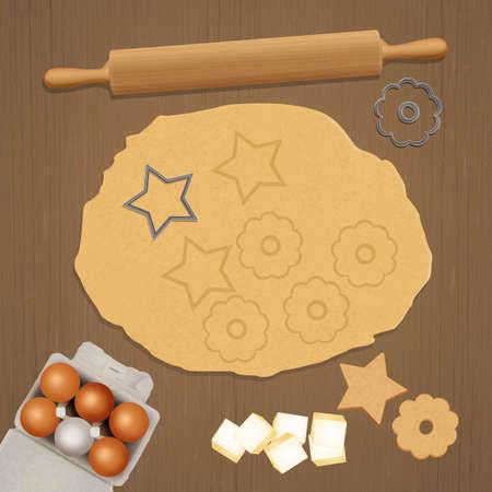 illustration of shortbread biscuits